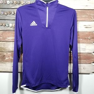 Adidas Men's 1/4 Zip Climalite Pullover NWT